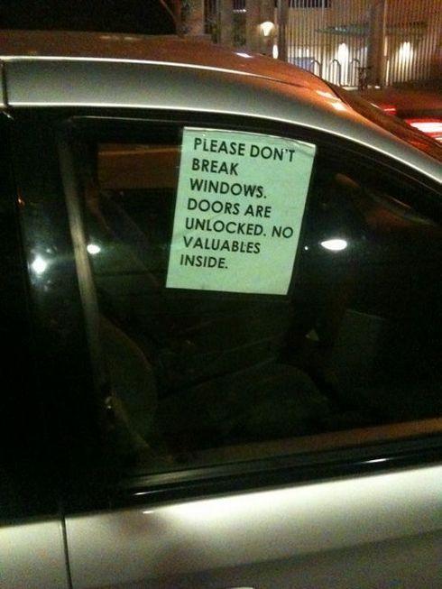 車上荒らし 対策