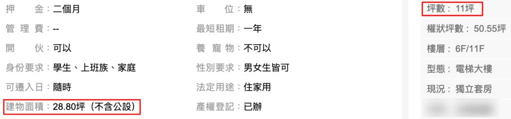 台湾 獨立套房 分租套房 違い