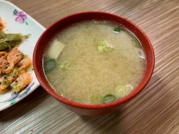 台南 グルメ 日本食 山根寿司 ブログ 台湾 味噌汁