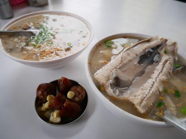 台南 食べ物 グルメ おすすめ サバヒー おかゆ 阿堂鹹粥
